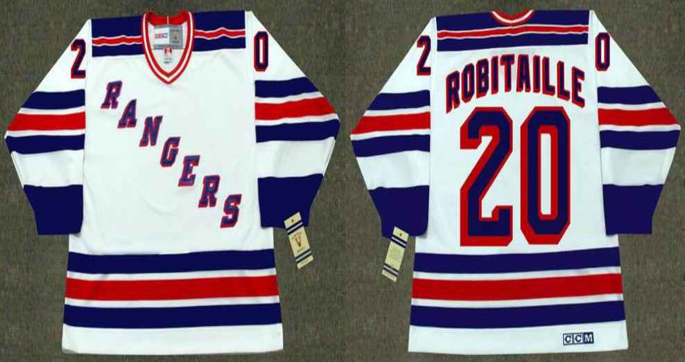 2019 Men New York Rangers 20 Robitaille white CCM NHL jerseys