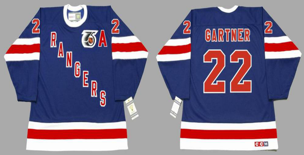 2019 Men New York Rangers 22 Gartner blue CCM NHL jerseys