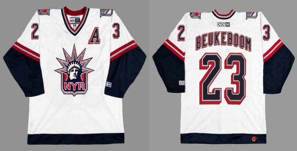 2019 Men New York Rangers 23 Beukeboom white CCM NHL jerseys