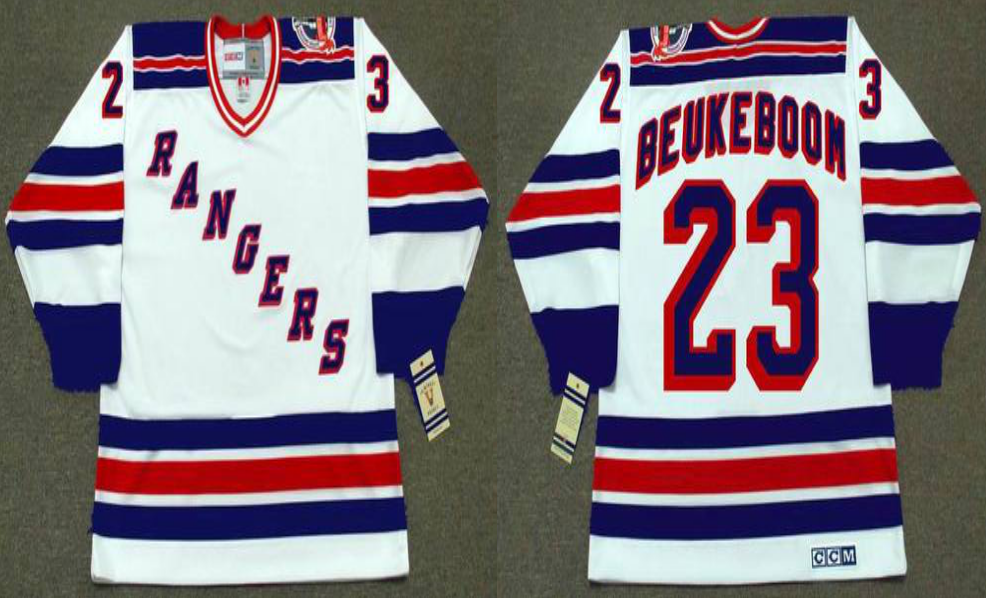 2019 Men New York Rangers 23 Beukeboom white style 2 CCM NHL jerseys