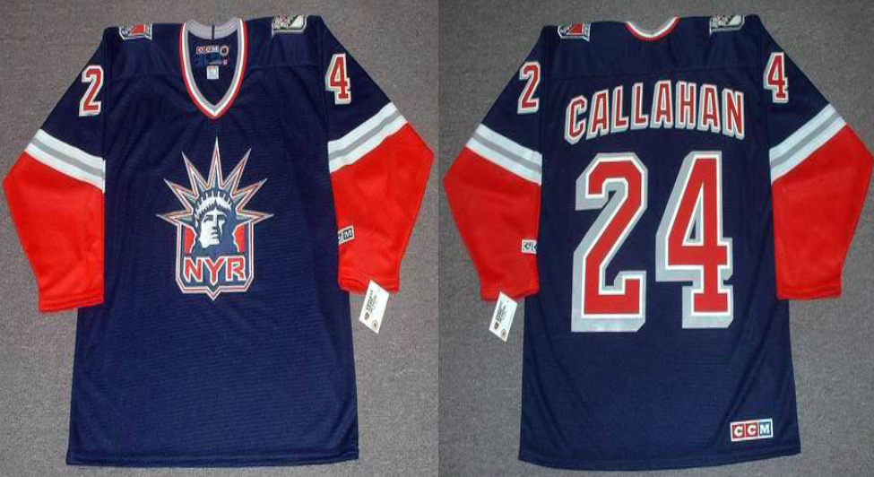 2019 Men New York Rangers 24 Callahan blue CCM NHL jerseys