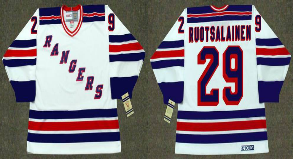 2019 Men New York Rangers 29 Ruotsalainen white CCM NHL jerseys