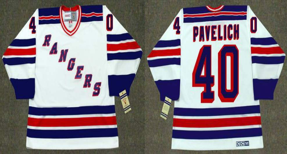 2019 Men New York Rangers 40 Pavelich white CCM NHL jerseys