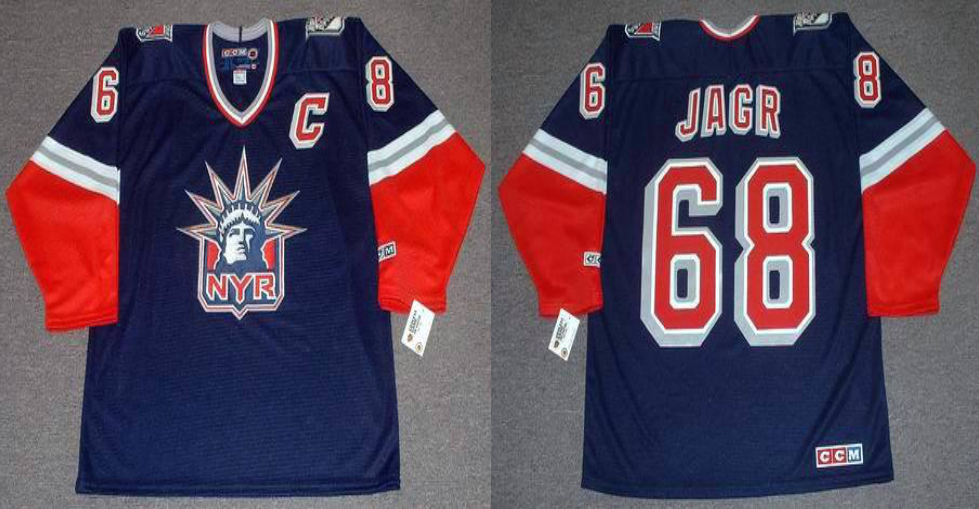 2019 Men New York Rangers 68 Jagr blue CCM NHL jerseys