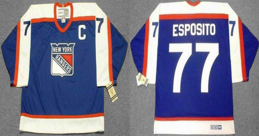 2019 Men New York Rangers 77 Esposito blue CCM NHL jerseys