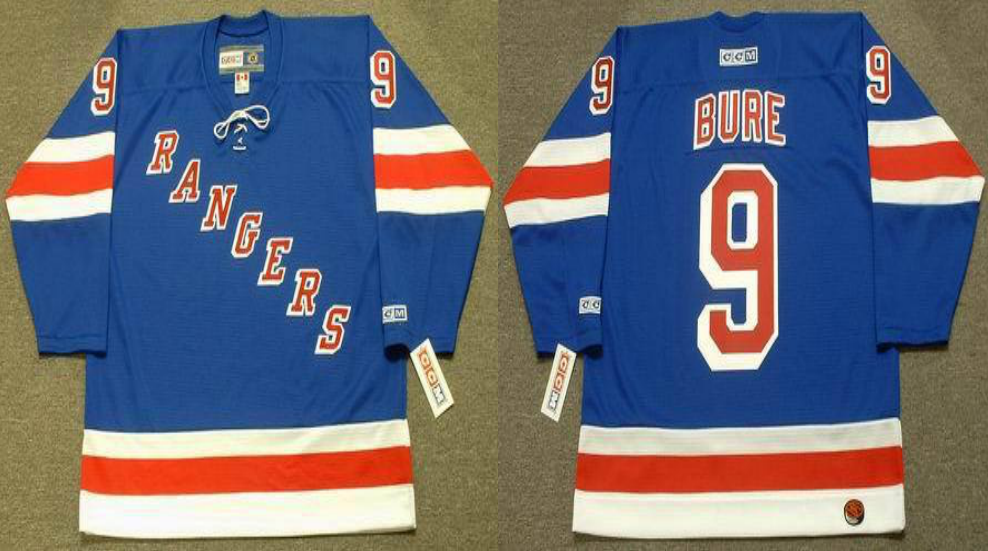 2019 Men New York Rangers 9 Bure blue CCM NHL jerseys