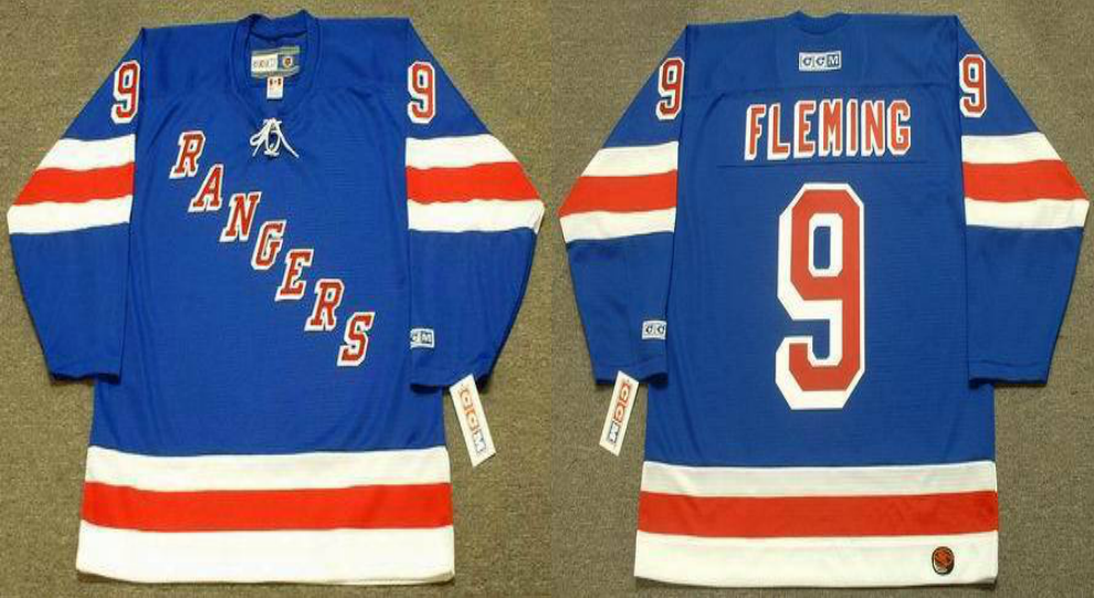 2019 Men New York Rangers 9 Fleming blue CCM NHL jerseys