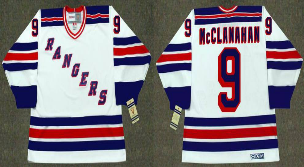 2019 Men New York Rangers 9 McClanahan white CCM NHL jerseys