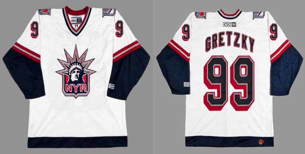 2019 Men New York Rangers 99 Gretzky white CCM NHL jerseys
