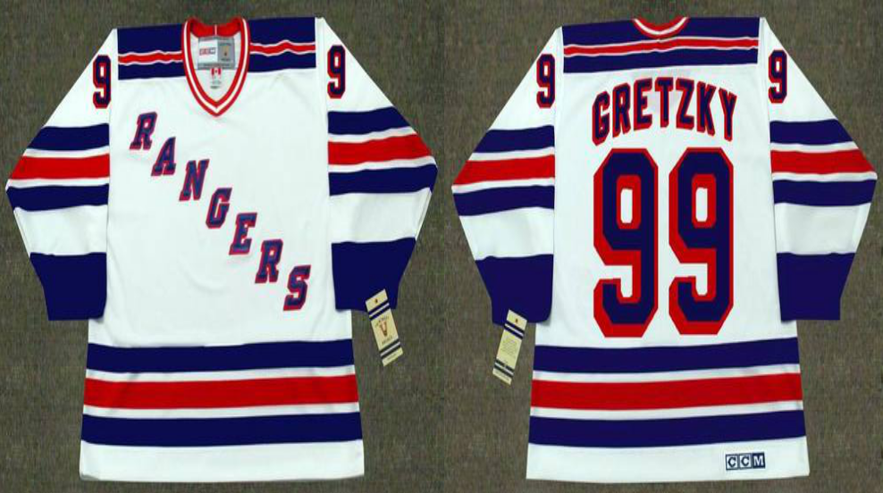 2019 Men New York Rangers 99 Gretzky white style 2 CCM NHL jerseys