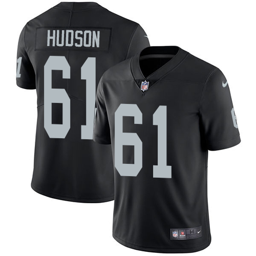 2019 Men Oakland Raiders 61 Hudson black Nike Vapor Untouchable Limited NFL Jersey
