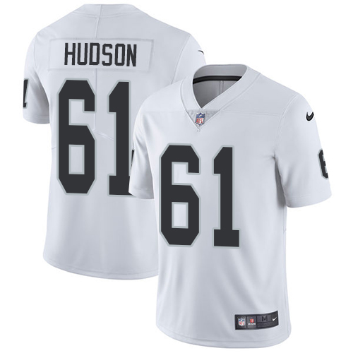 2019 Men Oakland Raiders 61 Hudson white Nike Vapor Untouchable Limited NFL Jersey