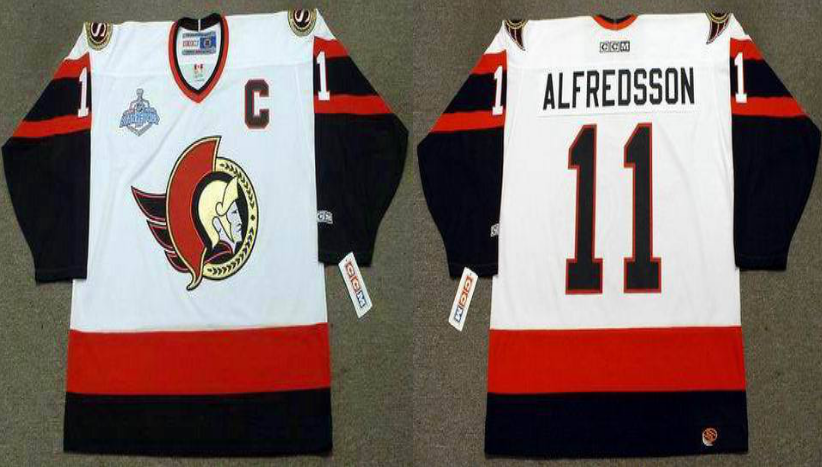 2019 Men Ottawa Senators 11 Alfredsson white CCM NHL jerseys