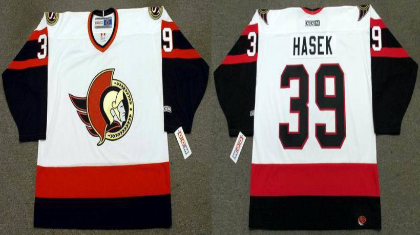 2019 Men Ottawa Senators 39 Hasek white CCM NHL jerseys