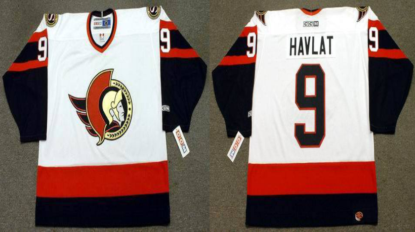 2019 Men Ottawa Senators 9 Havlat white CCM NHL jerseys