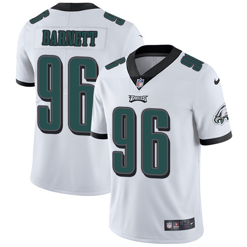 2019 Men Philadelphia Eagles 96 Derek Barnett white Nike Vapor Untouchable Limited NFL Jersey