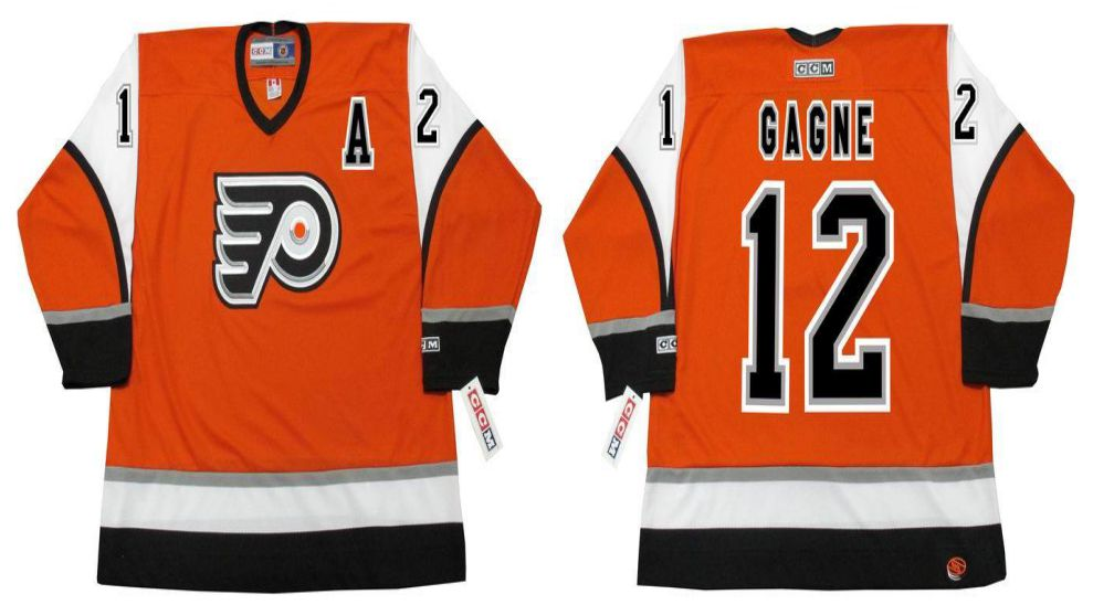2019 Men Philadelphia Flyers 12 Gagne Orange CCM NHL jerseys