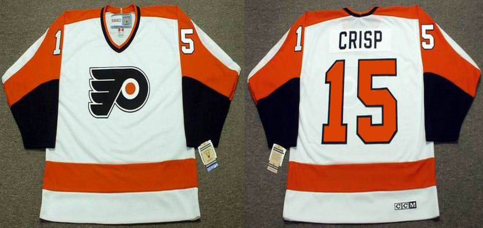 2019 Men Philadelphia Flyers 15 Crisp White CCM NHL jerseys