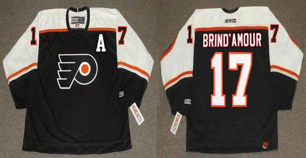 2019 Men Philadelphia Flyers 17 Brind amour Black CCM NHL jerseys