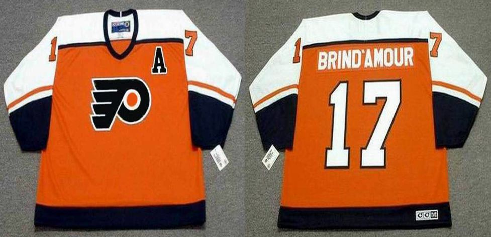 2019 Men Philadelphia Flyers 17 Brind amour Orange CCM NHL jerseys