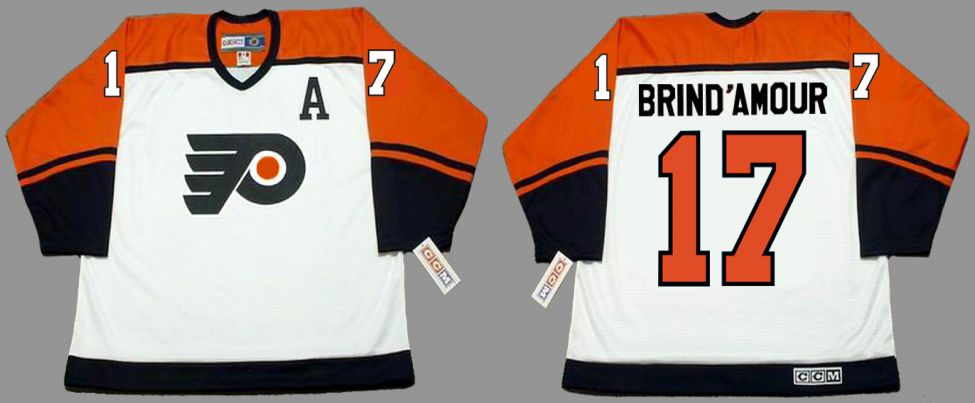 2019 Men Philadelphia Flyers 17 Brind amour White CCM NHL jerseys