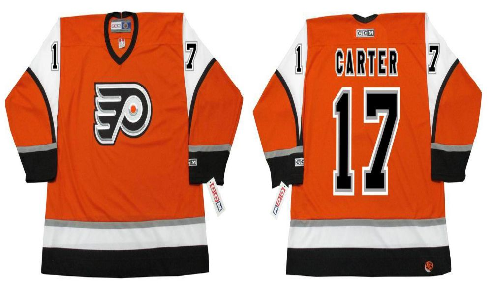2019 Men Philadelphia Flyers 17 Carter Orange CCM NHL jerseys