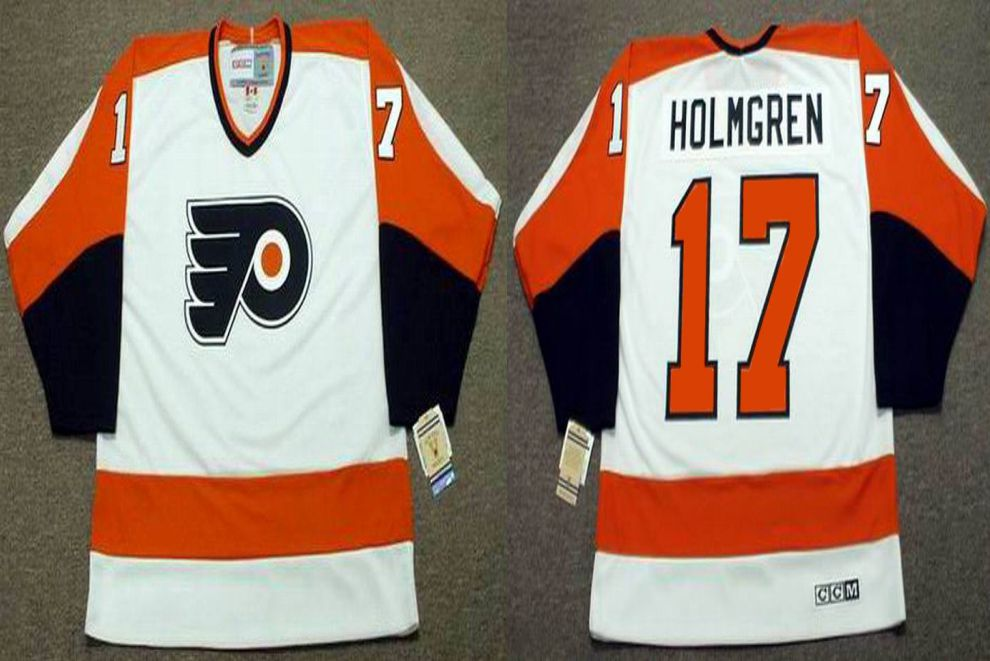 2019 Men Philadelphia Flyers 17 Holmgren White CCM NHL jerseys