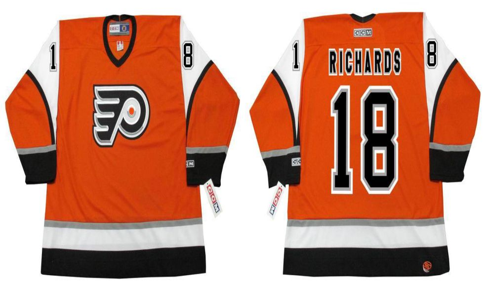 2019 Men Philadelphia Flyers 18 Richards Orange CCM NHL jerseys