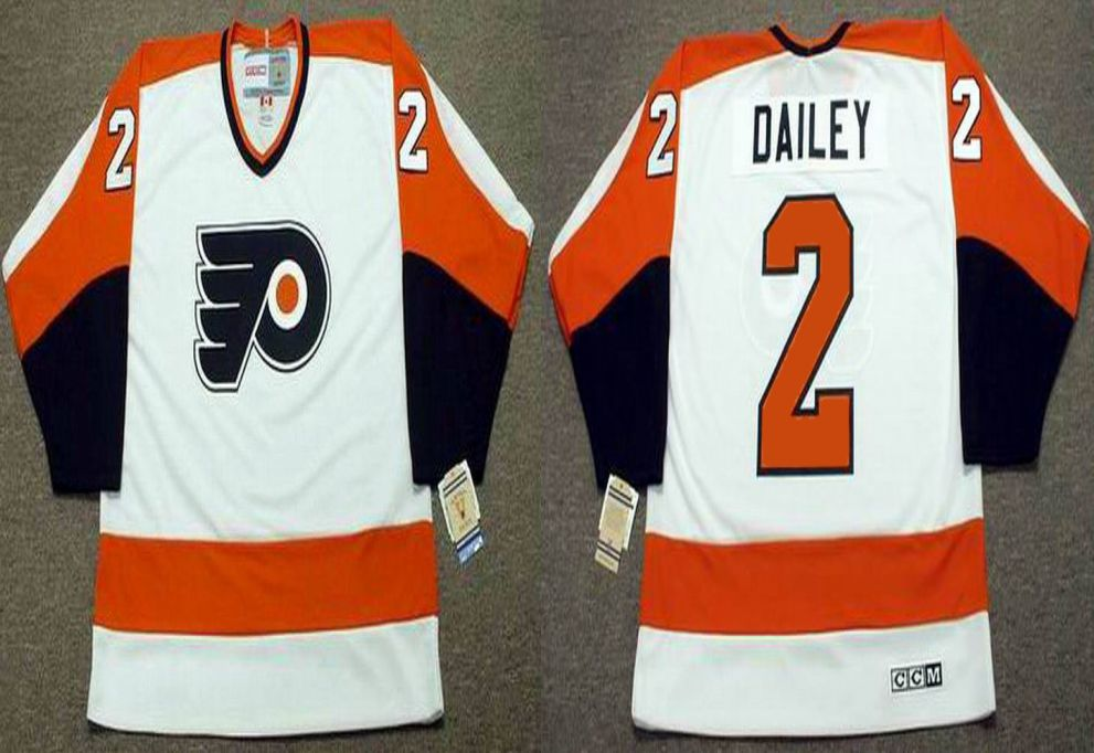 2019 Men Philadelphia Flyers 2 Dailey White CCM NHL jerseys