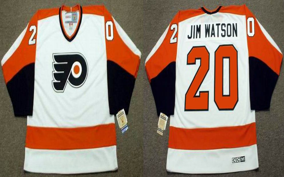 2019 Men Philadelphia Flyers 20 Jim watson White CCM NHL jerseys
