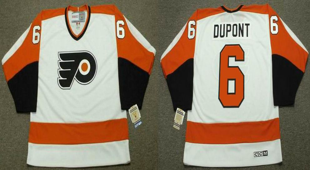2019 Men Philadelphia Flyers 6 Dupont White CCM NHL jerseys