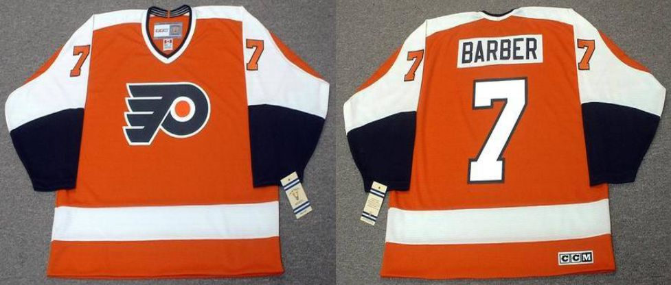 2019 Men Philadelphia Flyers 7 Barber Orange CCM NHL jerseys