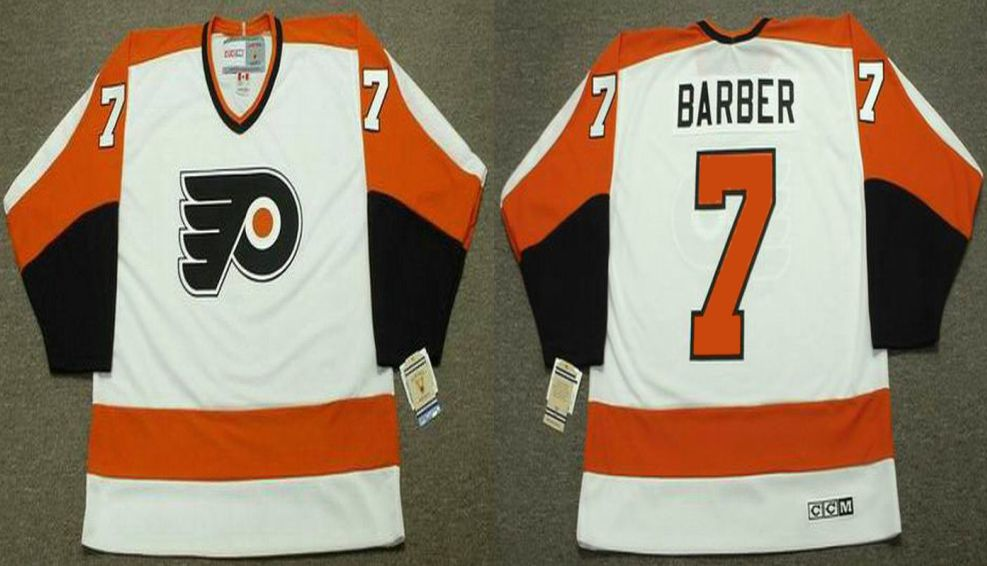 2019 Men Philadelphia Flyers 7 Barber White CCM NHL jerseys
