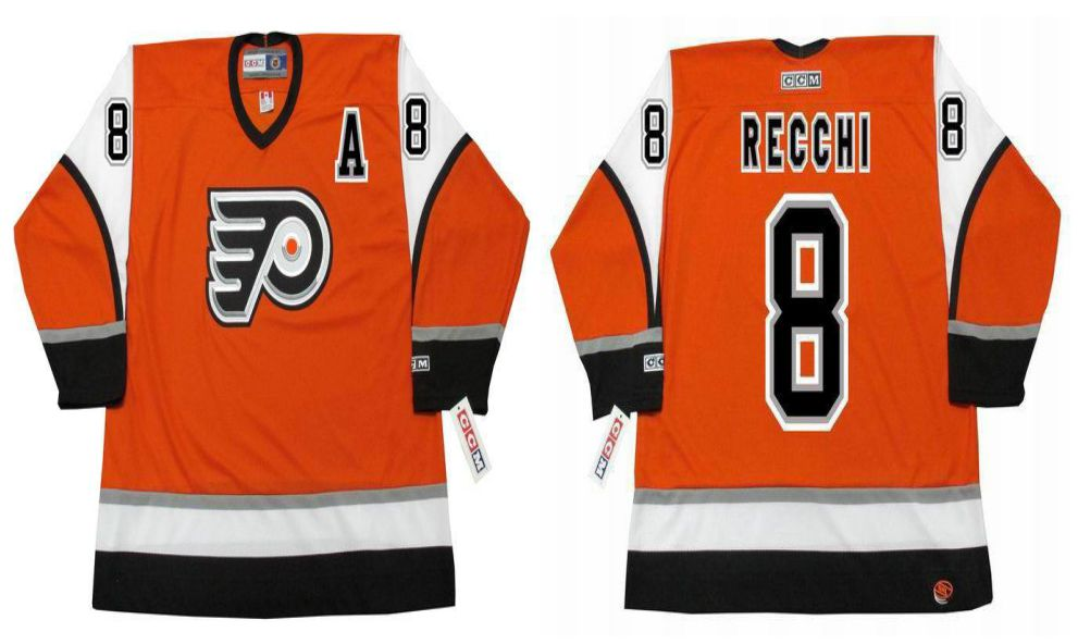 2019 Men Philadelphia Flyers 8 Recchi Orange CCM NHL jerseys