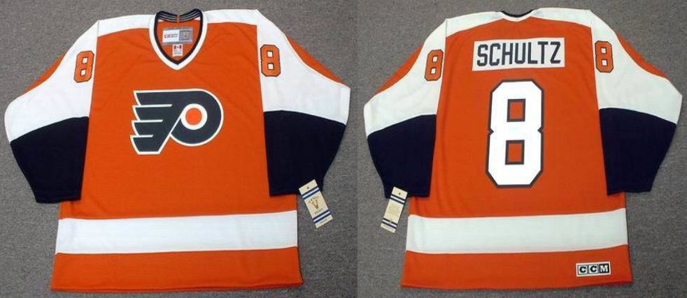 2019 Men Philadelphia Flyers 8 Schultz Orange CCM NHL jerseys