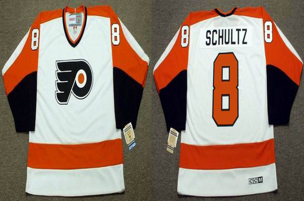 2019 Men Philadelphia Flyers 8 Schultz White CCM NHL jerseys