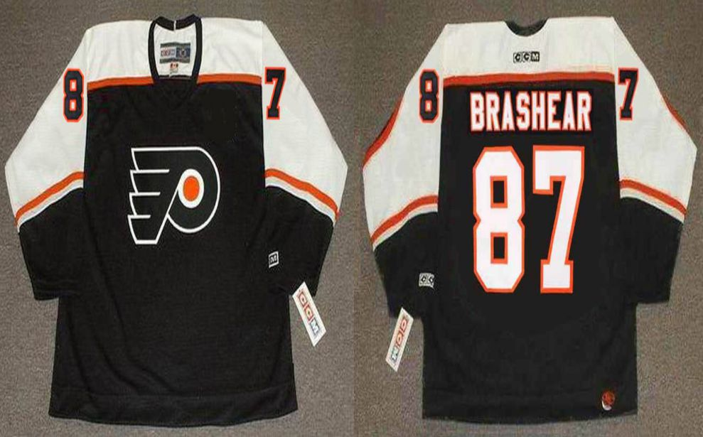 2019 Men Philadelphia Flyers 87 Brashear Black CCM NHL jerseys