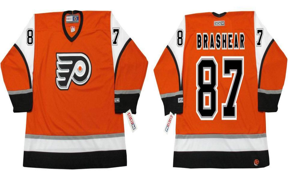 2019 Men Philadelphia Flyers 87 Brashear Orange CCM NHL jerseys