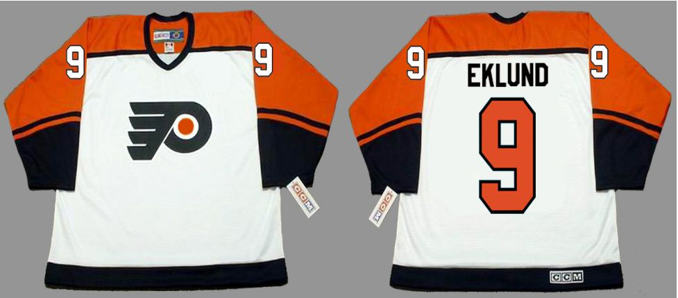 2019 Men Philadelphia Flyers 9 Eklund White CCM NHL jerseys