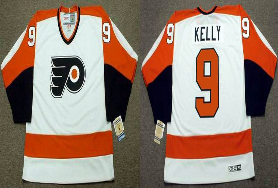 2019 Men Philadelphia Flyers 9 Kelly White CCM NHL jerseys