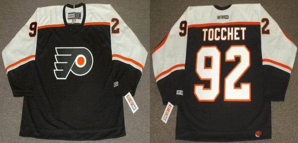 2019 Men Philadelphia Flyers 92 Tocchet Black CCM NHL jerseys