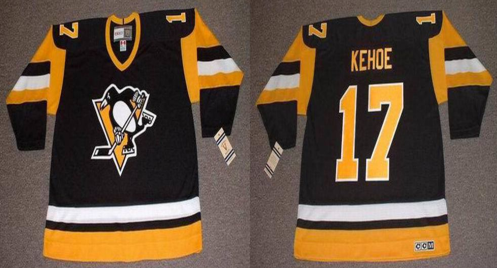 2019 Men Pittsburgh Penguins 17 Kehoe Black CCM NHL jerseys