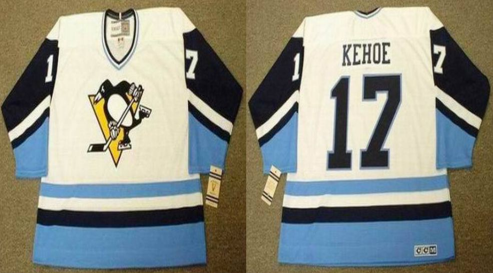 2019 Men Pittsburgh Penguins 17 Kehoe White blue CCM NHL jerseys