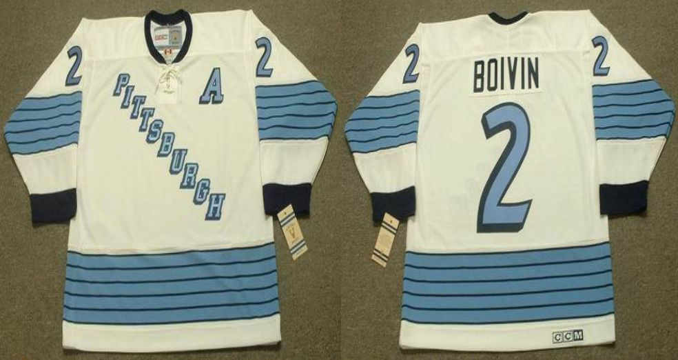 2019 Men Pittsburgh Penguins 2 Boivin White CCM NHL jerseys