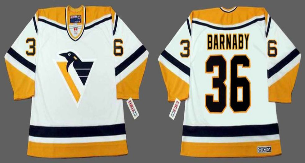 2019 Men Pittsburgh Penguins 36 Barnaby White CCM NHL jerseys