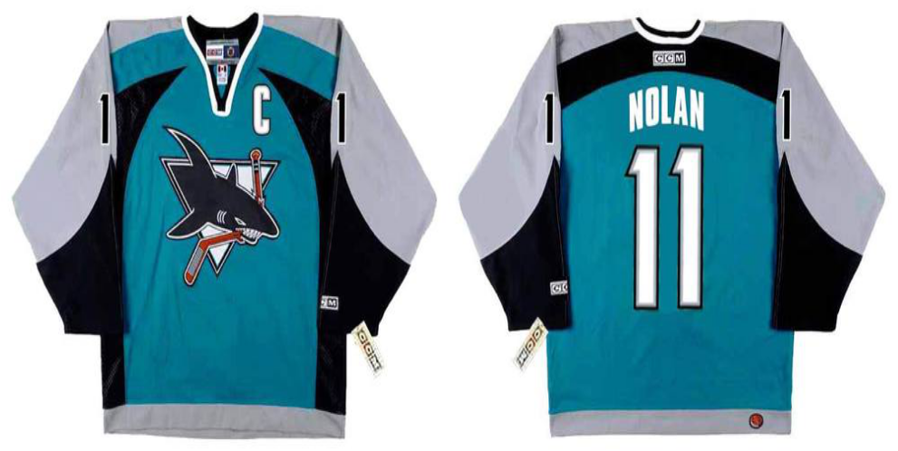 2019 Men San Jose Sharks 11 Nolan blue CCM NHL jersey