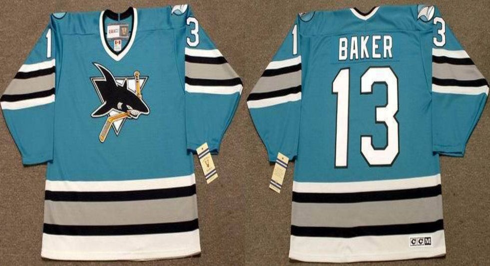 2019 Men San Jose Sharks 13 Baker blue CCM NHL jersey