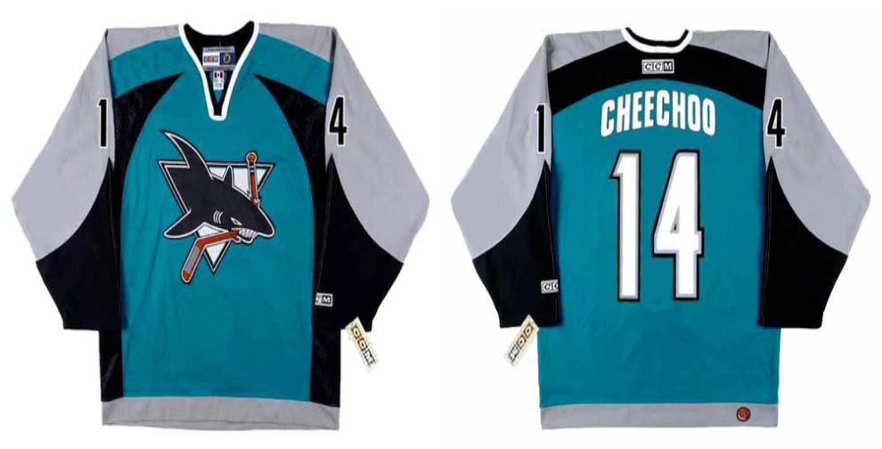 2019 Men San Jose Sharks 14 Cheechoo blue CCM NHL jersey