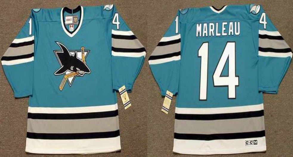 2019 Men San Jose Sharks 14 Marleau blue CCM NHL jersey