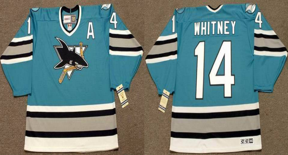 2019 Men San Jose Sharks 14 Whitney blue CCM NHL jersey